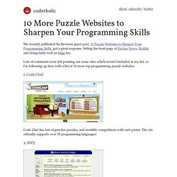 10 More Puzzle Websites to Sharpen Your Programming Skills