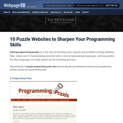 10 Puzzle Websites to Sharpen Your Programming Skills - StumbleUpon