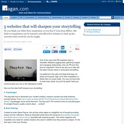 5 websites that will sharpen your storytelling