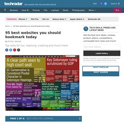 95 websites you should totally bookmark today