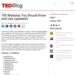 Blog: 100 Websites You Should Know and Use