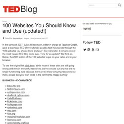 Blog | 100 Websites You Should Know and Use