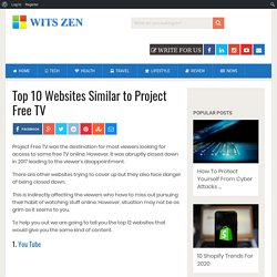 Top 10 Websites Similar to Project Free TV