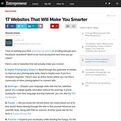 17 Websites That Will Make You Smarter