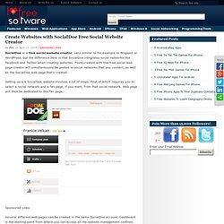 Create Websites with SocialDoe Free Social Website Creator