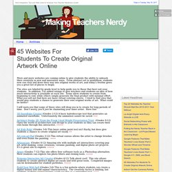 45 Websites For Students To Create Original Artwork Online
