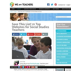 21 Top Websites for Social Studies Teachers