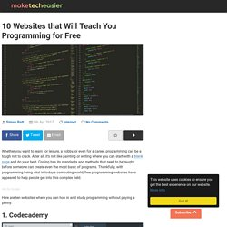 10 Websites that Will Teach You Programming for Free