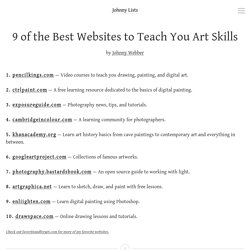 9 of the Best Websites to Teach You Art Skills