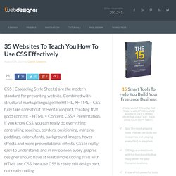 TOOLBOX - Css - 35 Websites To Teach You How To Use CSS Effectively