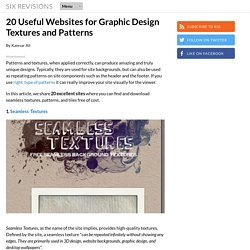 20 Useful Websites for Graphic Design Textures and Patterns