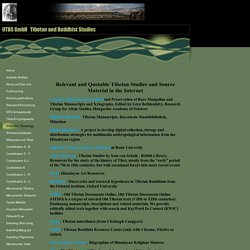 Websites:Tibetology
