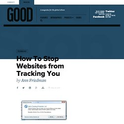 How To Stop Websites from Tracking You - Technology
