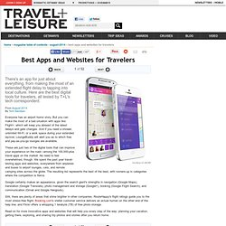 50 Best Apps and Websites for Travelers