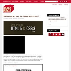 9 Websites to Learn the Basics About html 5