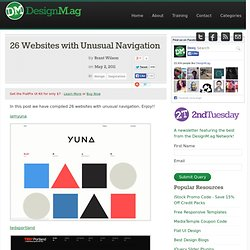 26 Websites with Unusual Navigation - Web Design Blog – DesignM.ag