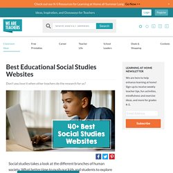 Best Social Studies Websites for Teachers ... Share the List! - WeAreTeachers