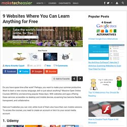 9 Websites Where You Can Learn Anything For Free