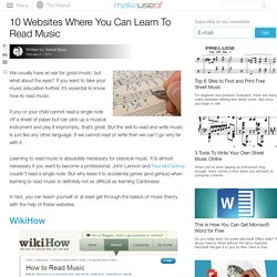 10 Online Resources Where You Can Learn To Read Music