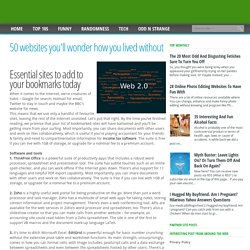 50 websites you'll wonder how you lived without