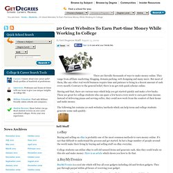 20 Great Websites To Earn Part-time Money While Working In College | Get Degrees