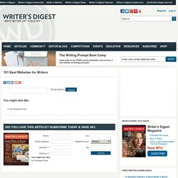 Writer's Digest - 101 Best Sites
