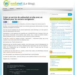Créer un service de websocket en php avec un fallback pour les anciens navigateurs
