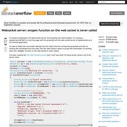 C# websocket server