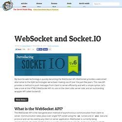 WebSocket and Socket.IO