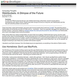 WebSockets: A Glimpse of the Future