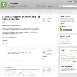 secure websockets and QtWebKit - Qt SDK 4.8 (VS2008)