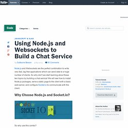Using Node.js and Websockets to Build a Chat Service