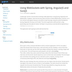 Using WebSockets with Spring, AngularJS and SockJS
