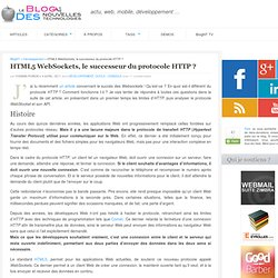 HTML5 WebSockets, le successeur du protocole HTTP ?