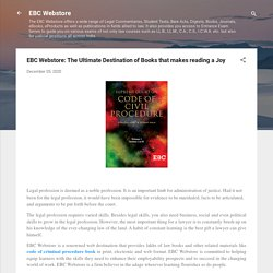 EBC Webstore: The Ultimate Destination of Books that makes reading a Joy