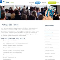 Voting Pads on Hire in India, Voting Keypads