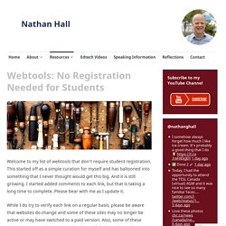 Webtools: No Registration Needed for Students