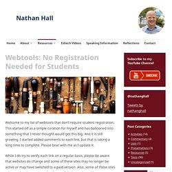 Webtools: No Registration Needed for Students