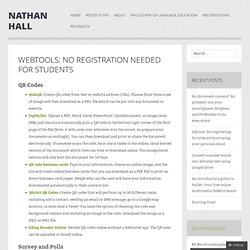 Webtools: No Registration Needed for Students | Nathan Hall