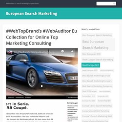 #WebTopBrand's #WebAuditor Eu Collection for Online Top Marketing Consulting
