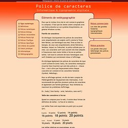 Webtypographie: utilisation des polices de caractères en création web
