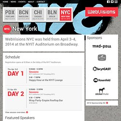 WebVisions NYC - Web & Mobile Design, Technology and UX Conference