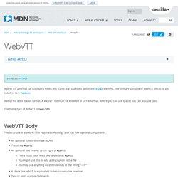 web vtt texte timer comme sous titre ou com developer.mozilla