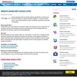 Webwijzer.nl - Website maken met Google Sites: Introductie