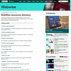 BBC WebWise - WebWise resources directory