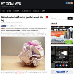 Il Webwriter diventa Web Content Specialist