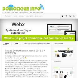 Webx - Un projet domotique pas comme les autres