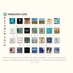 webyarns.com: stories for the web