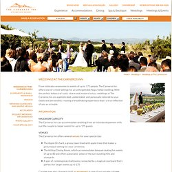 Wedding Venues in Napa | The Carneros Inn - Weddings | Napa Wedding Venues
