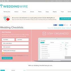 Wedding Checklists, Wedding Planning Checklists